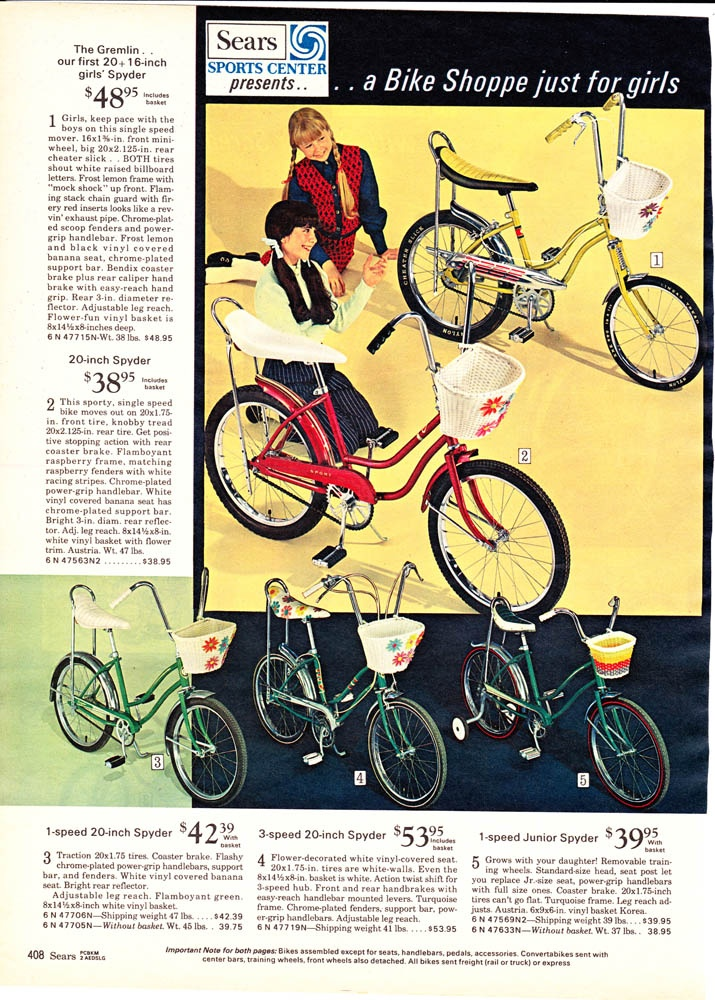 Awesome bikes from the 1970 Sears Wishbook