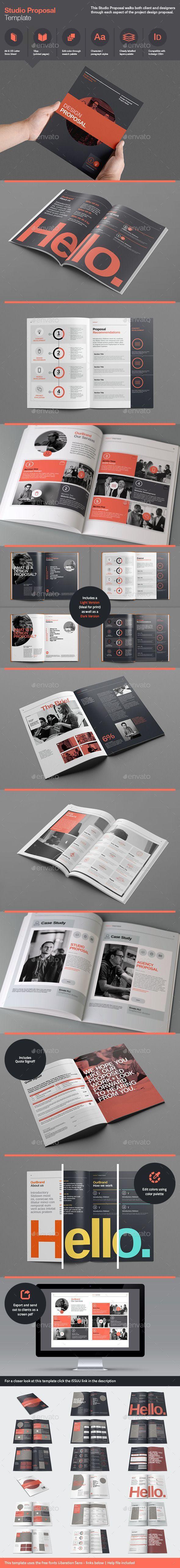 Studio Proposal Template, editorial design by RW Design Studio, via GraphicRiver.