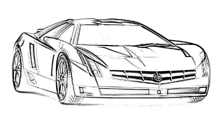 Cadillac Car Coloring Pages : Cadillac ats coloring page cars etc pinterest