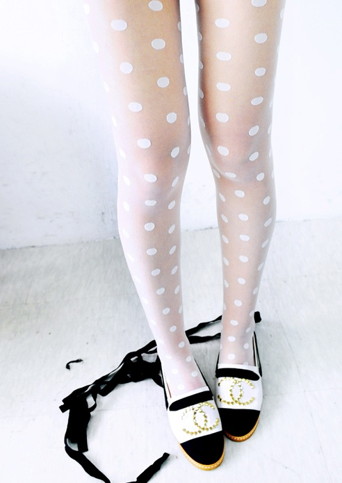white tights and Chanel