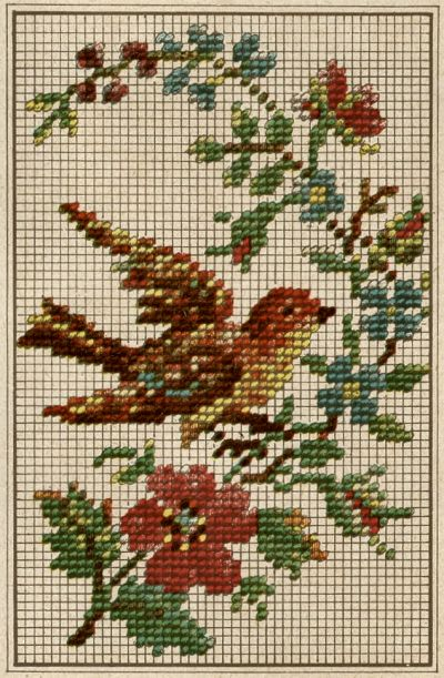 Bird cross stitch2