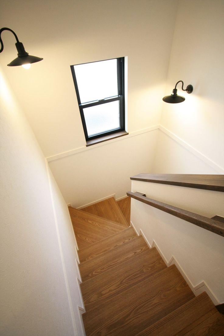 階段/木の手すり/インテリア/ナチュラルインテリア/カフェインテリア/注文住宅/施工例/ジャストの家/stairs/interior/house/homedecor/housedesign
