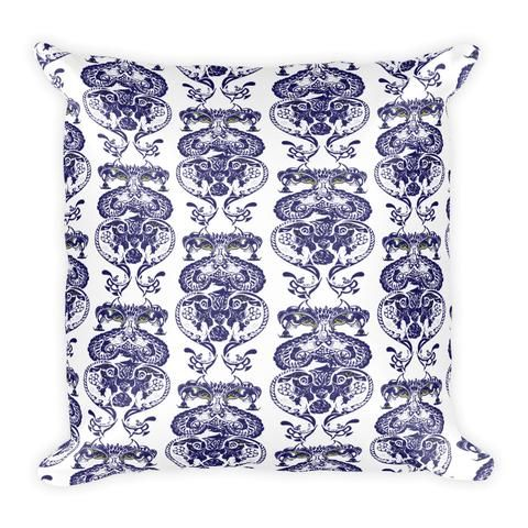 Heritage Ink Blue Pattern - Pillow