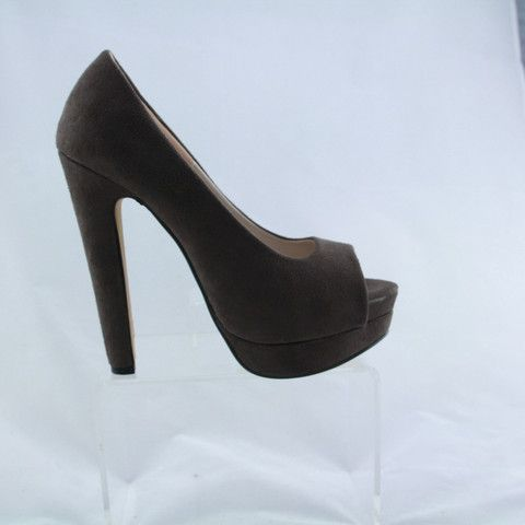 Hot Lips 'Tune' in Taupe Suede, High Heel