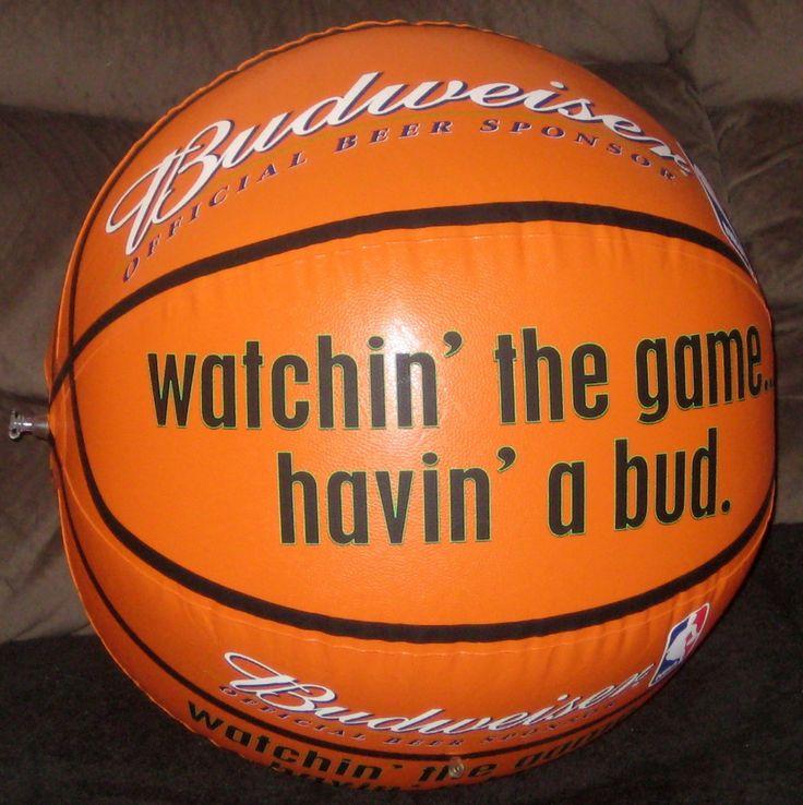 Budweiser Inflatable Basketball Shoe | Inflatable Budweiser Vinyl Basketball Bud Beer Sponsor NBA 2000