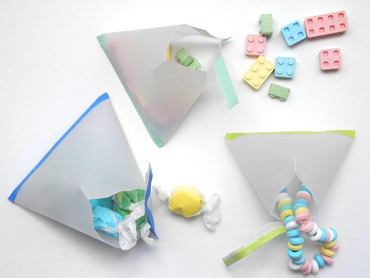 Party Treat Pockets: Treat Pockets, Treat Packet, Party Treats, Diy Party, Party Ideas, Parchment Paper, Crafty Ideas
