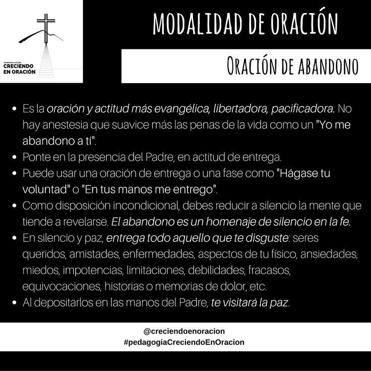 Modalidades de Oración - Oración de Abandono