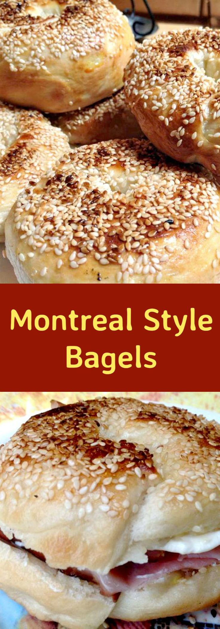 Montreal Style Bagels. A wonderful soft, sweeter bagel. Easy to follow instructions and freezer friendly too!