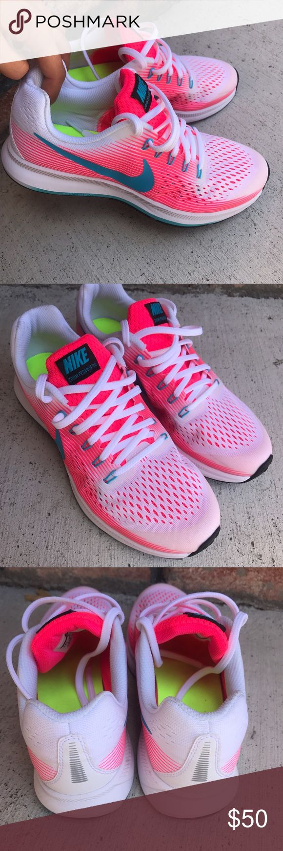 Brand new Nike Zoom Pegasus 34 Only worn once for a shoot! Kids 6.5 - Women's 8! Nike Shoes Sneakers