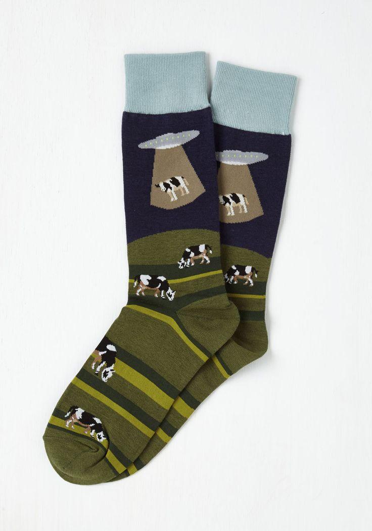 Space to Graze Men's Socks, #ModCloth