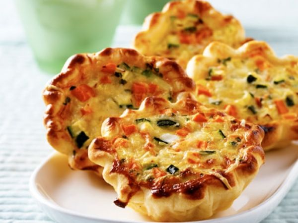Vegetarische mini-quiches