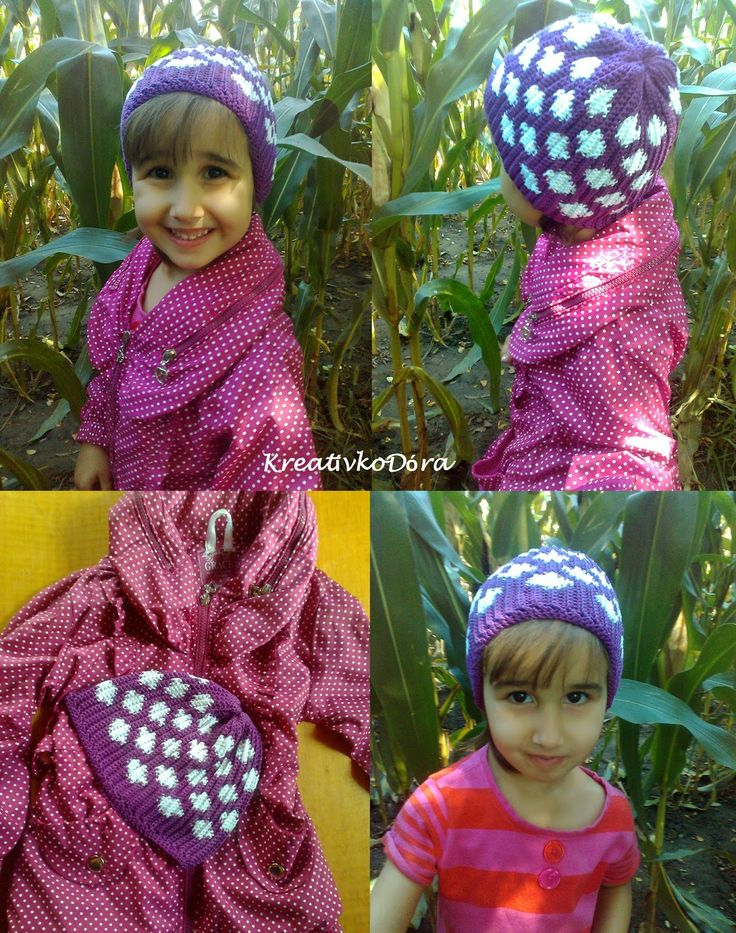 Crochet dotted hat