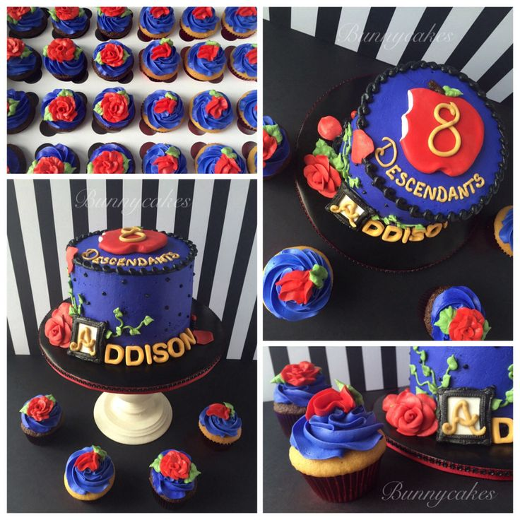 Disney Descendants cake made by Bunnycakes Friday the 13th of May 2016