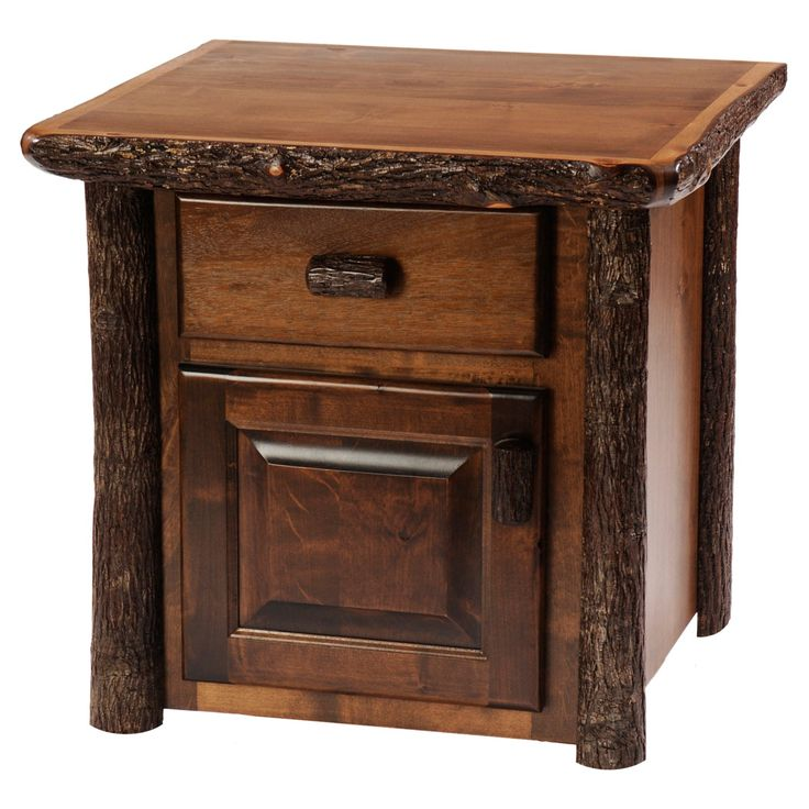 Fireside Lodge Furniture Hickory Enclosed End Table - 84040-T