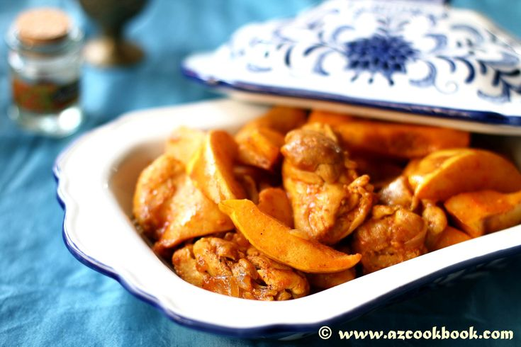 Saffron Infused Chicken With Quince - AZ Cookbook - A food blog with delicious recipes and stories