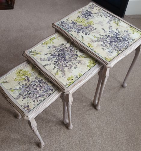 Vintage-Shabby-chic-nest-of-tables-in-Annie-Sloan-chalk-paint-and-Waxes