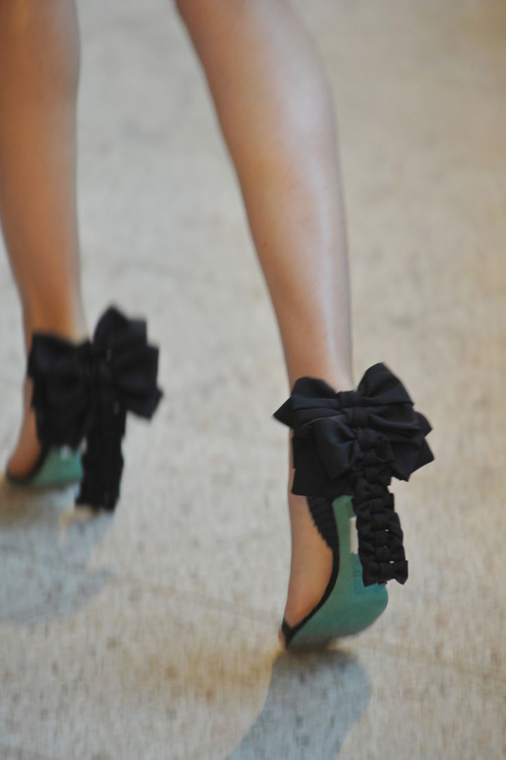 Cute Yet Stunning High Heels With Bows - Be Modish - Be Modish
