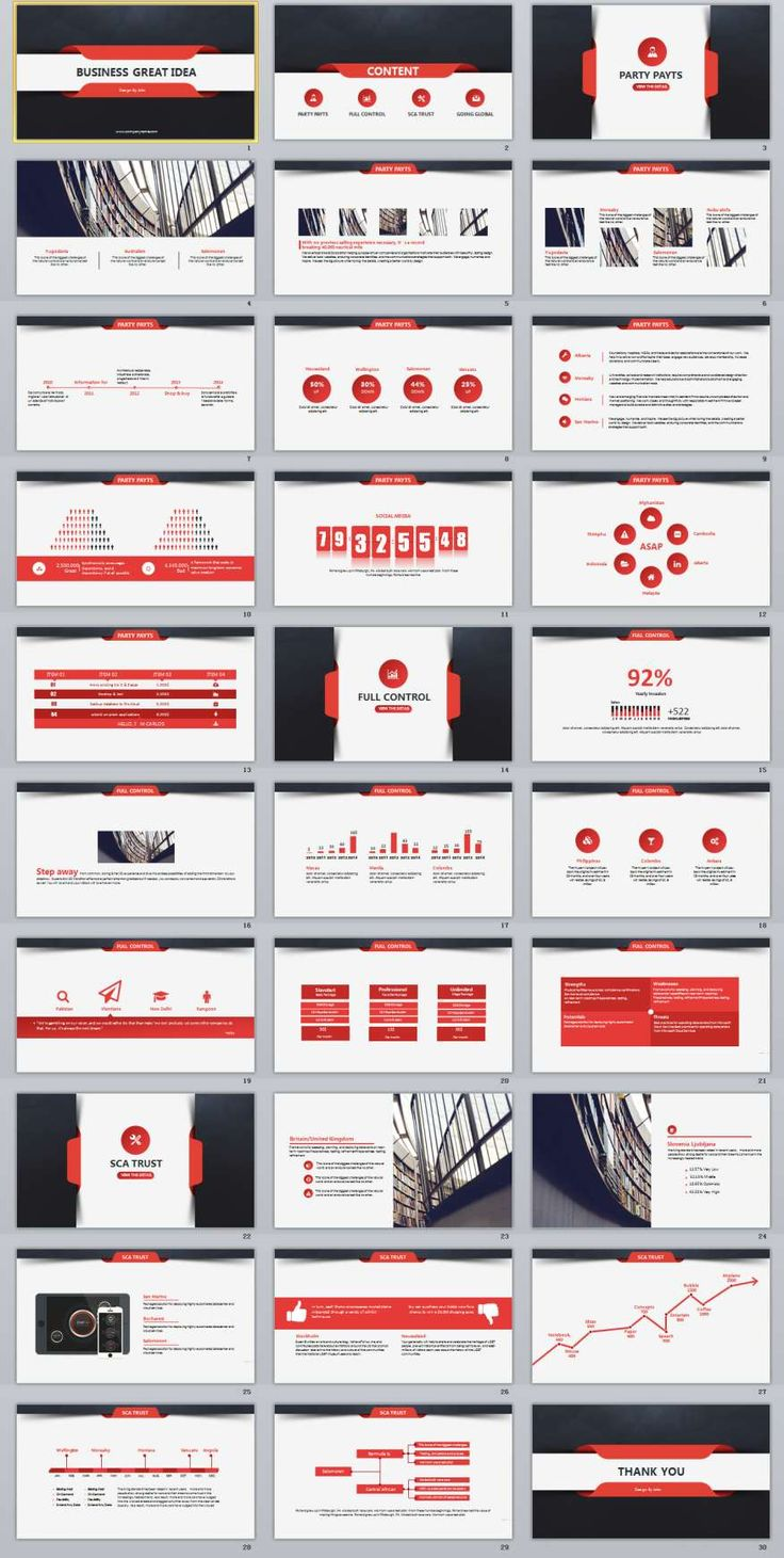30+ Red Business PowerPoint presentation Template