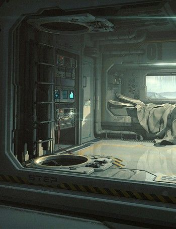 Sci-Fi Bedroom: sci fi city 3d model