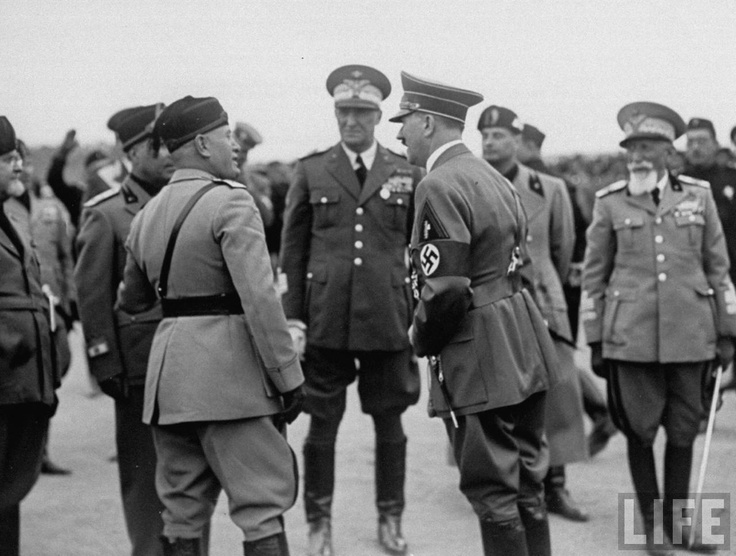 """a comparison of mussolini and hitler in the world war ii For instance, roger eatwell describes the two as a """"holistic national 'third way""""[5 ]  like mussolini, adolf hitler was a world war one veteran."""