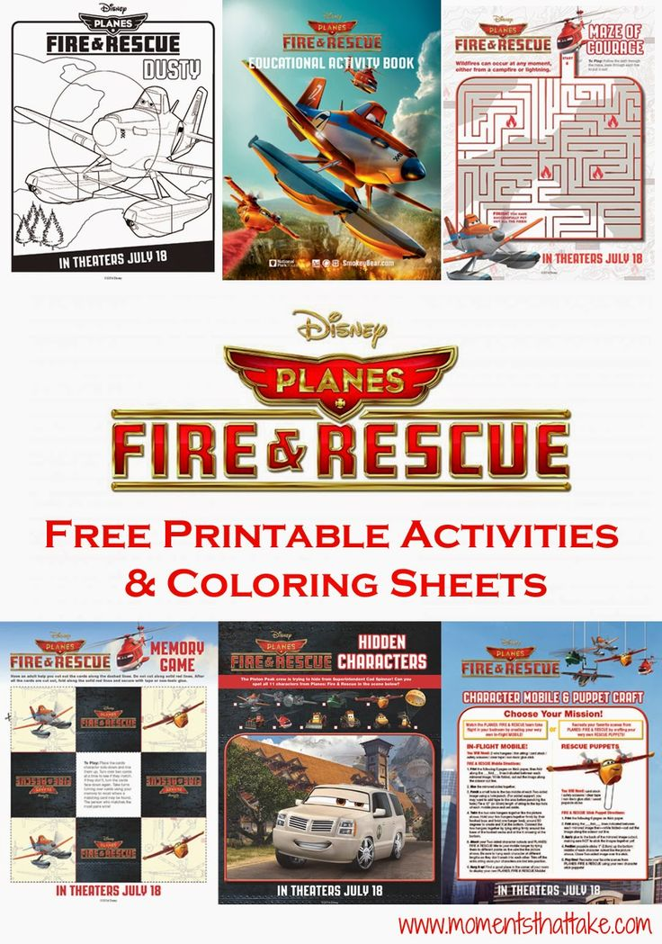Disney #Planes: Fire and Rescue Free Printable Coloring Pages and Activities