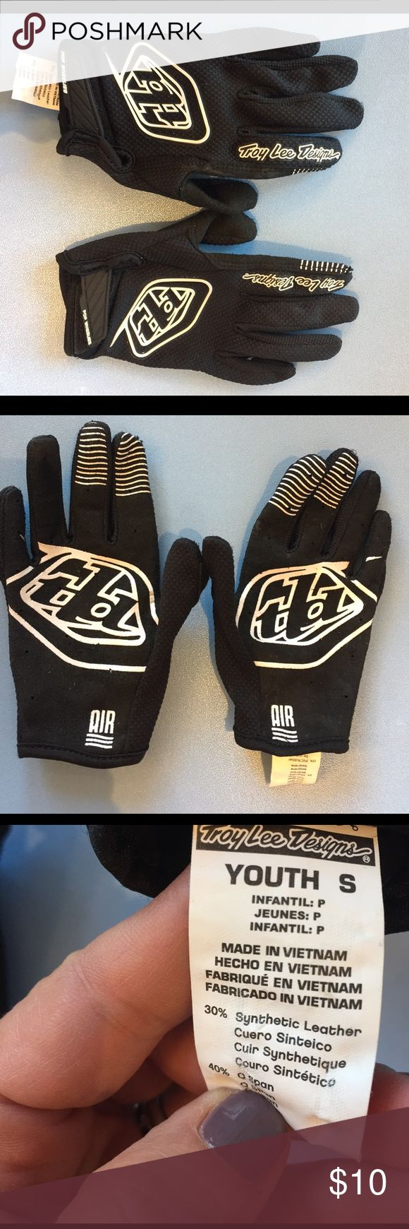 Troy Lee Air Youth BMX Gloves EUC Accessories