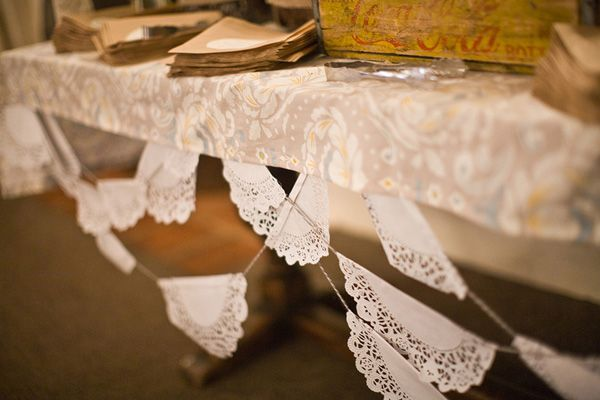 Fun way to use paper doilies