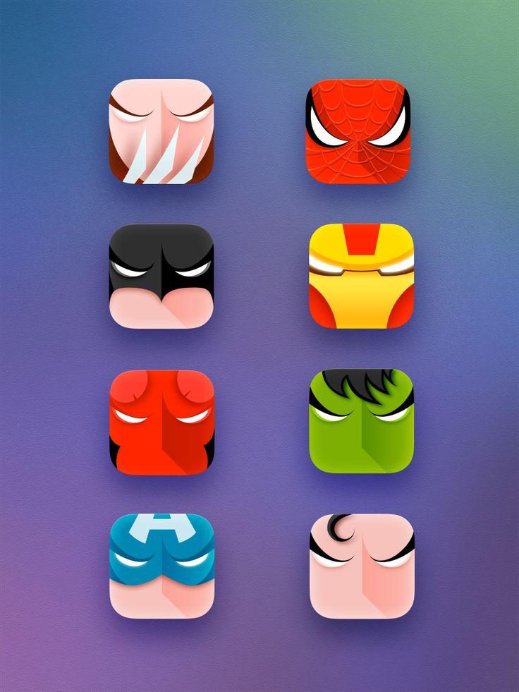 Superheroes #icons #ios #app