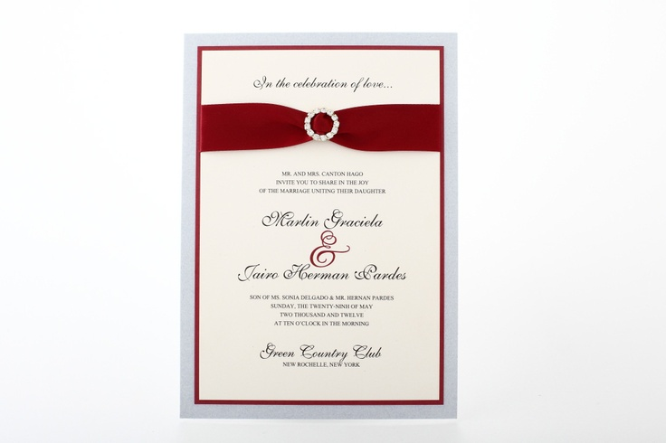 wedding picture board ideas - Intimate Wedding Invitation