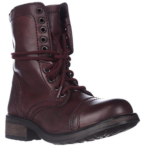 Steve Madden Tropa2 Combat Boots  Wine 55 M US * To view further for this item, visit the image link.