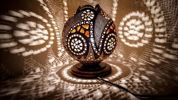 MOTHER'S DAY Gourd lamp Turkish mosaic light birthday, anniversary, mariage gift bohemian moroccan s