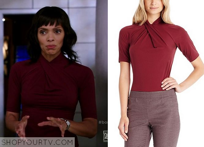 Bones: Season 10 Episode 8 Camille's Orange Wrap Front Top