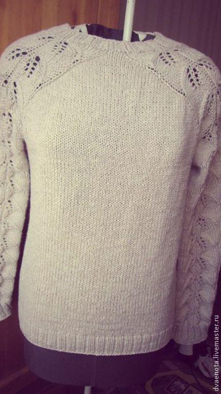 Купить свитер ажурный - свитер ажурный, свитер с ажурной спинкой, вязаный свитер, свитер спицами
