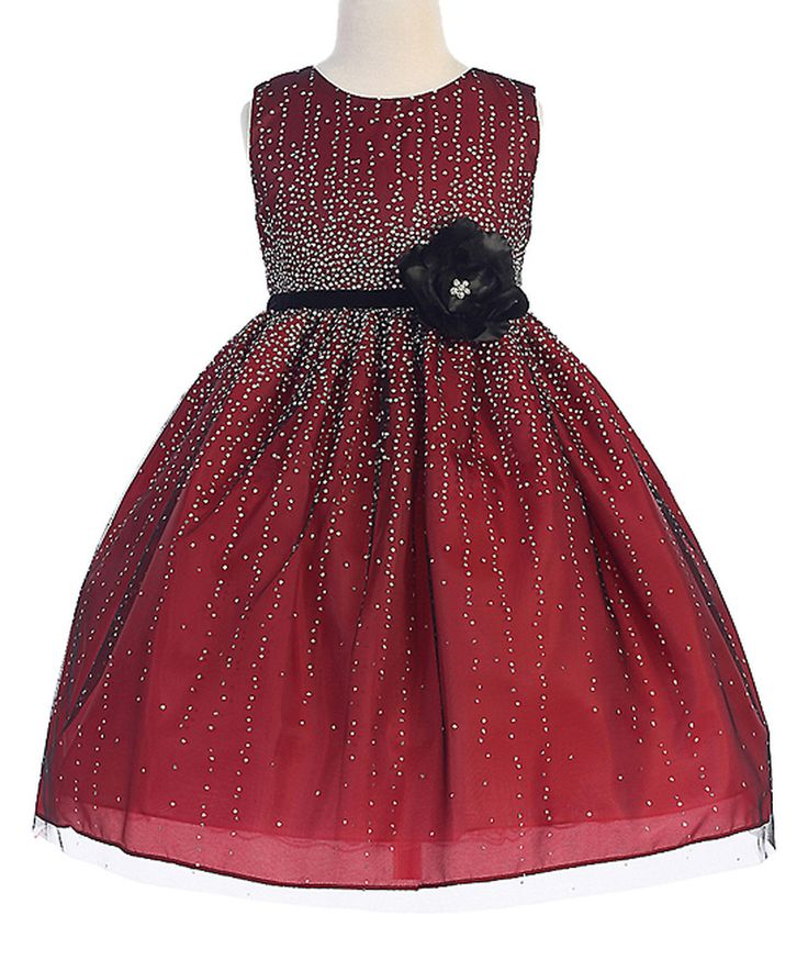 Look at this Crayon Kids Red Embellished Sleeveless Dress - Toddler & Girls on #zulily today!