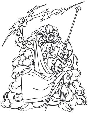 Greek Gods - Zeus | Urban Threads: Unique and Awesome Embroidery Designs