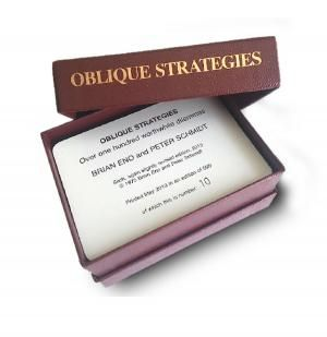 A very Special edition of OBLIQUE STRATEGIES by Brian Eno and Peter Schmidt