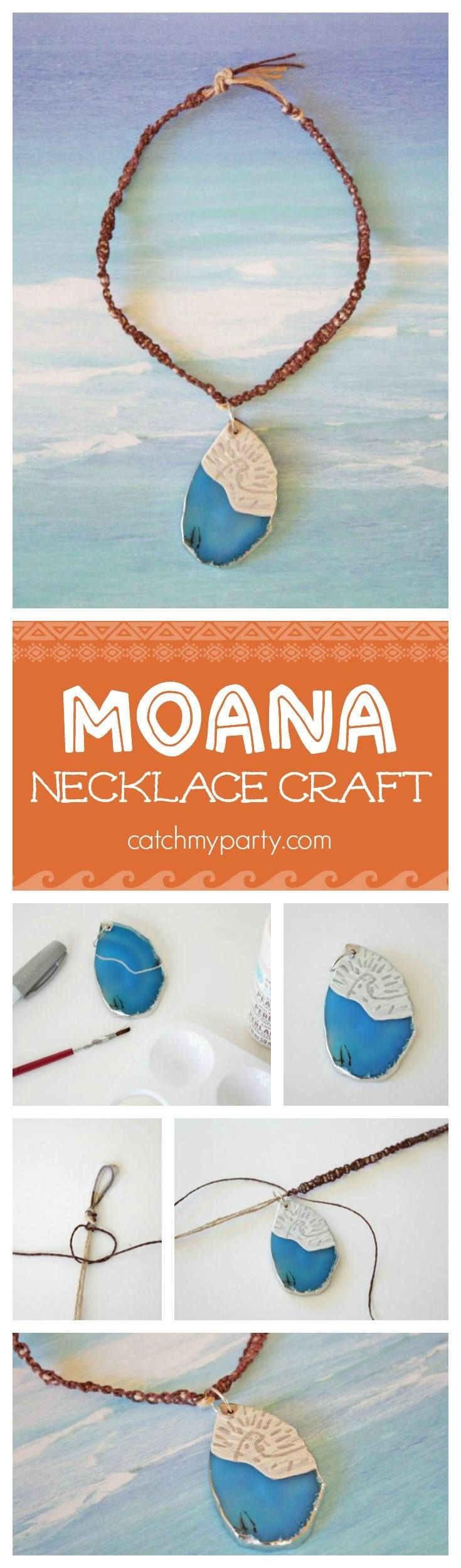 Here's a great Moana party activity or Moana craft for you to do with your kids! See more party ideas at catchmyparty.com!