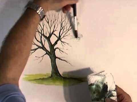 Here's how to paint a tree in watercolour. The lesson covers painting a winter tree and summer tree with thick foliage. BOB'S FREE EBOOK: ... SUBSCRIBE: ... . How, Tree,