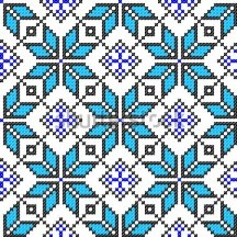 Seamless embroidered good like handmade cross-stitch ethnic Ukraine pattern stock image