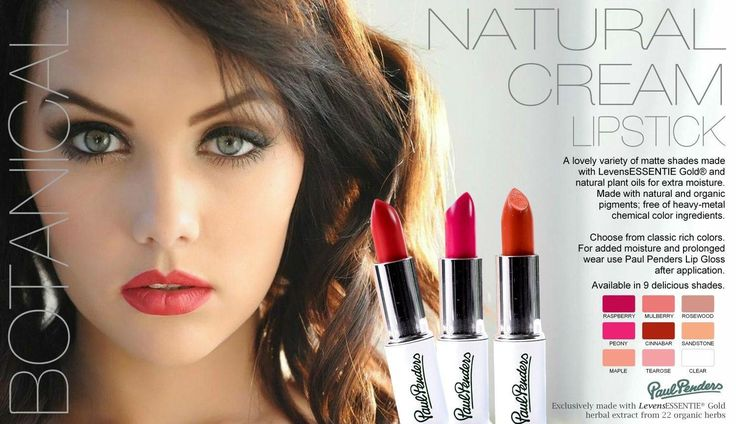 Natural lipsticks by paul penders all vegan and botanical ❤️