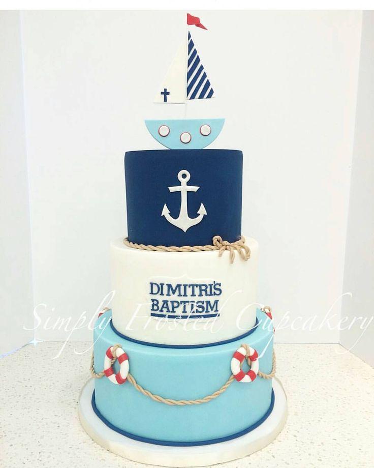 A nautical cake for Dimitri's Baptism ⛵