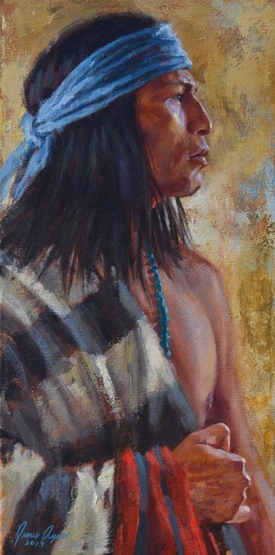 Strength   Navajo Painting   Native American painting   James Ayers Studios