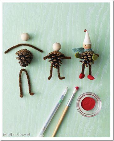 Pinecone elves -- very cute!