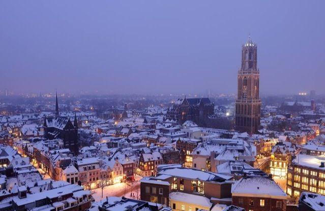 Utrecht netherlands snow