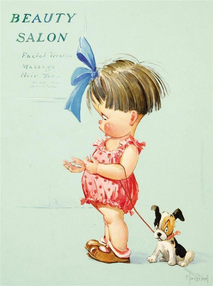 Рисунок смешная маленькая девочка, днем подруги поздравления