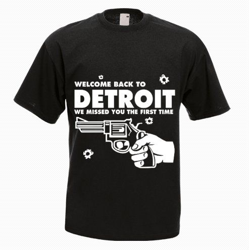 Detroit Gun T-Shirt - http://goo.gl/mt3xTq