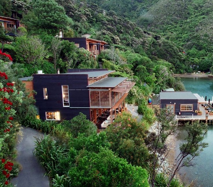 Perfect seclusion at Bay of Many Coves Resort in Queen Charlotte Sound, set in native bush right down to the water's edge.