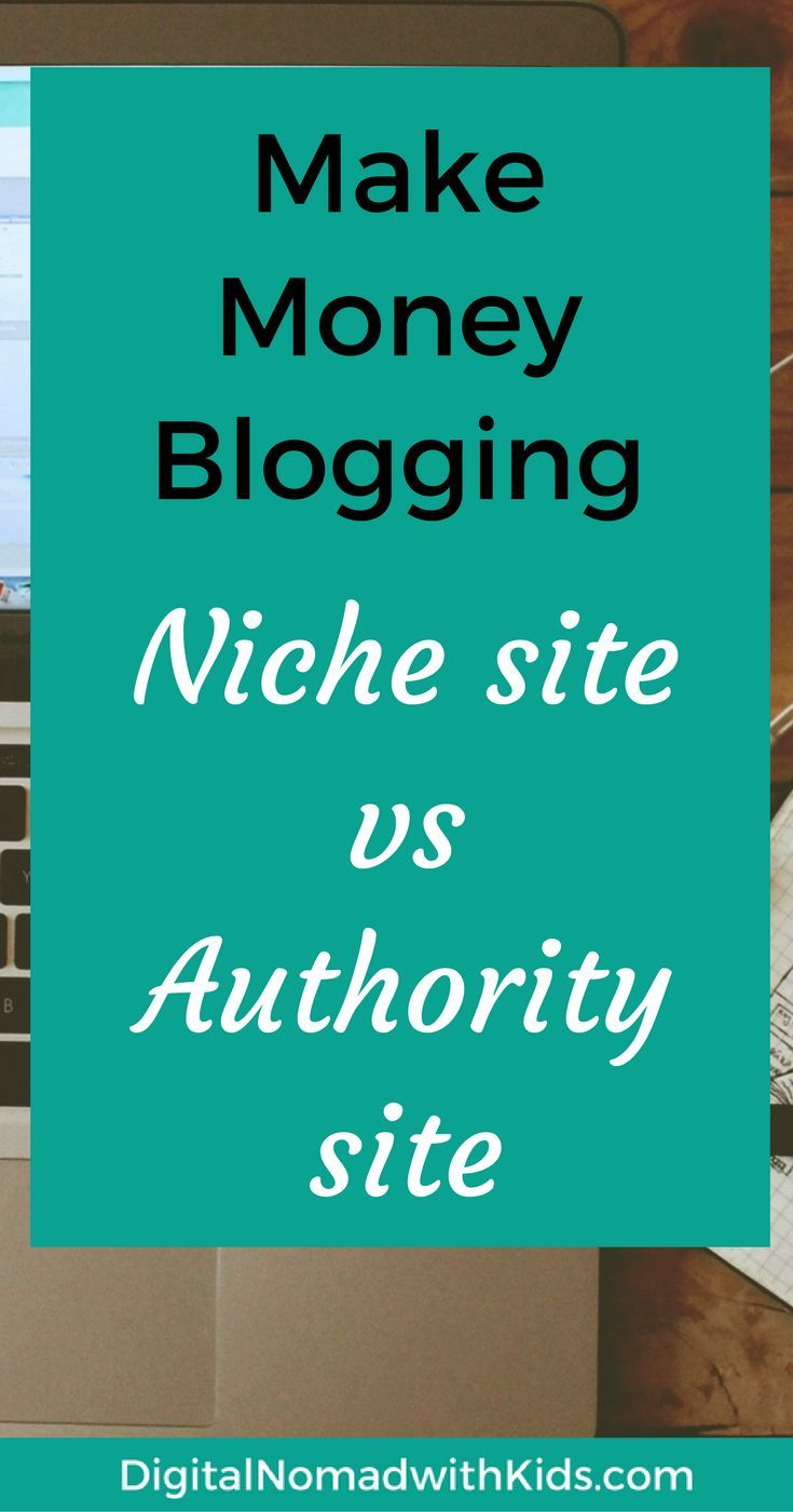 The difference between a niche site and an authority site? And which one is best to make money online? Click for answers and make money blogging!