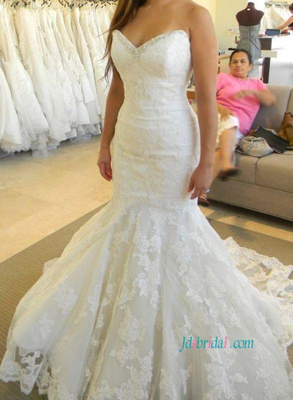 The 152 best Mermaid wedding dresses: lace satin tulle fishtail ...