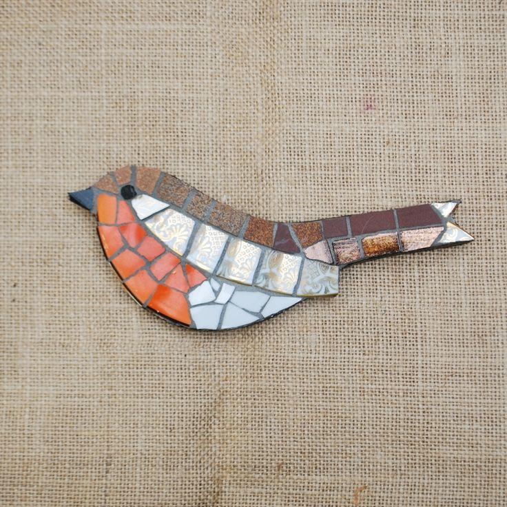 Mosaic Robin by Emma Leith